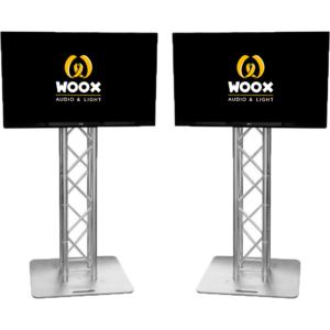 4k tv schermen op pilaar presentatie schermen