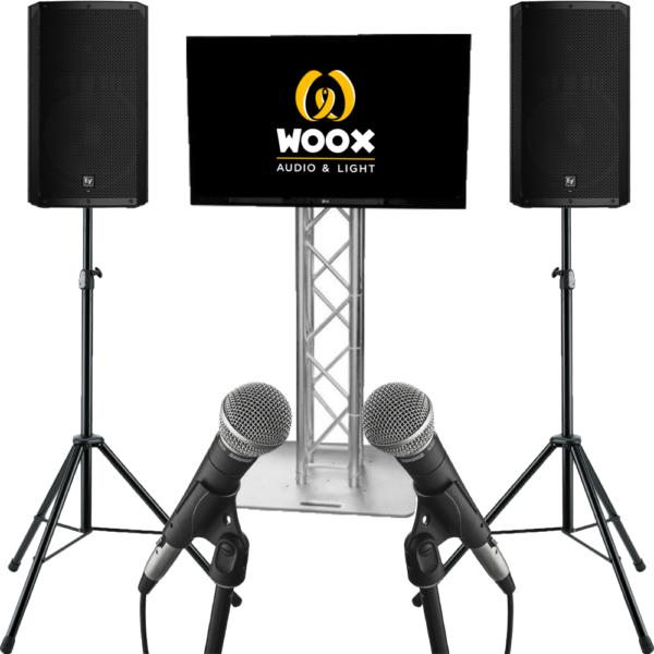 karaoke set met tv scherm