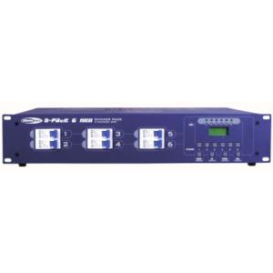 Showtec D-pack 6 MK2 dimmerpack voor 6 kanalen met 10A per kanaal